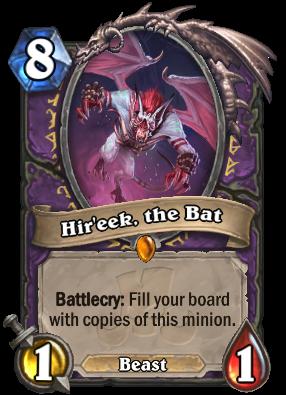 Hir'eek, the Bat - Cards - Hearthstone